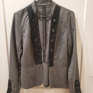 Maurices Houndstooth Lace Blazer